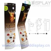 Oval shape folding cardboard totem display stand for for Totem stand