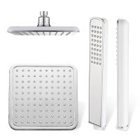Wholesale Polished Chrome Bathroom Rain Shower Heads , 8 Inch Shower Head Set from china suppliers