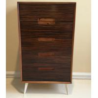 Quality Five-drawer storage cabinet, wood structure and steel supporting leg for sale