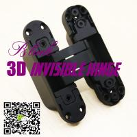 Wholesale Opening 180 Three Ways Italian Hinges Adjust Hidden Concealed 3D Invisible Hinge from china suppliers
