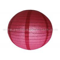 Wholesale Single Color Round Chinese Paper Lantern from china suppliers