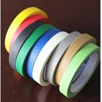 Quality Black / White / Purple Textured / Crepe Paper Multi Colored Painters Tape 30m 48m for sale