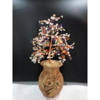 Wholesale Beaded Wire Indoor Bonsai Tree Sculpture Rose Quartz Gemstone Tree For Family from china suppliers