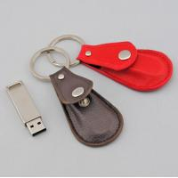 Wholesale High Speed 4GB 8GB Leather USB Flash Drive Black With Key Chain from china suppliers