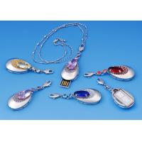 Wholesale OEM Notebook Micro Crystal Pendant High Speed Jewelry Usb Flash Drive 512MB from china suppliers