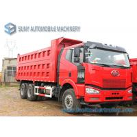 Wholesale FAW Jiefang 6x4  Dump Garbage Trucks 3 Axles 30 ton 40 ton capacity from china suppliers