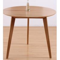 Wholesale Classic Round Wood Dining Room Tables , Small Round Breakfast Table For Kitchen from china suppliers