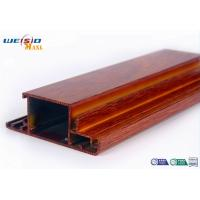 Wholesale Wood Grain Surface AA6063 T5 Aluminium Extrusions Profiles For Door / Windows from china suppliers