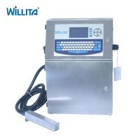 Wholesale No Blocking 4 Lines Inkjet Coder Machine , Automatic Grade Industrial Batch Printing Machine from china suppliers