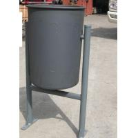 Wholesale Round PVC Painted Welded Metal Trash Bin Recycle Rubbish Bin from china suppliers
