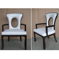 Buy cheap Fabric Upholstered Modern White Leather Dining Room Chairs With Hole - Back from wholesalers