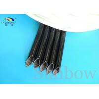 Wholesale 4.0KV 10mm Black Resin Silicone Coated Fiberglass Sleeve For Wire Insulation from china suppliers