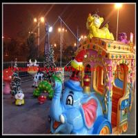 Quality 16 seats  Amusement Rides Big Amusement Park Equipment Elephant Trackless Train for sale
