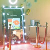 Quality Touch Screen Full Length Magic Mirror Photo Booth Portable Easy To Use for sale