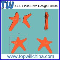 Wholesale Unique Custom PVC 8GB USB Flash Drive Design Company Brand Drive from china suppliers