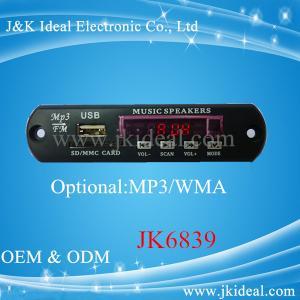 JK6839 USB SD FM MP3 decoder board with aux