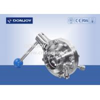 Wholesale 3 INCH 1.4404 Sanitary Ball Valve manual butterfly type with pull handle from china suppliers