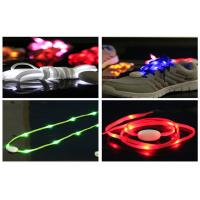 Wholesale Durable LED Illuminated Shoelaces With 10PCS LEDs For Party Hip - hop Dancing from china suppliers