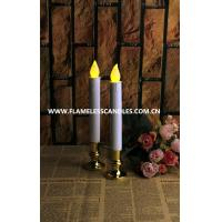 Quality Extra Bright Flameless LED Taper Candles, Auto Timer and Removable Base for sale