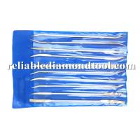 Wholesale Oval Double Side CR-V Steel Diamond Needle File PVC Handle 16/14 g.w/n.w HXEF013 from china suppliers