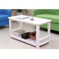 Wholesale Eco - Friendly White Timber Coffee Table , Stable Construction Small White Round Coffee Table from china suppliers