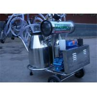 Wholesale Diesel Engine Double Bucket Cow Milking Machine With Electric Motor / Pulsator from china suppliers