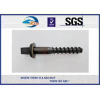 Wholesale 45# Oxide Black Railway Sleeper Screws Spike Insert Plastic Dowel from china suppliers