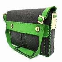 Wholesale Promotional Felt Messenger Bag, Customized Designs, Sizes and Colors are Accepted from china suppliers
