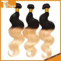 Buy cheap High Quality Grade 6A Brazilian Peruvian Malaysian Indian Ombre Hair Body Wave from wholesalers