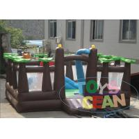 Wholesale Outdoor Inflatable Playground Forest Theme Obstacle Amusement Playground For Kids from china suppliers