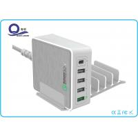 Wholesale 5 Ports Multiple USB Charging Station Quick Charger 3.0 with USB Type C Adapter from china suppliers