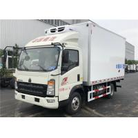 Wholesale HOWO 4x2 Refrigerated Box Truck Fiberglass Inner , 3 Tons Refrigerator Freezer Truck from china suppliers