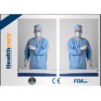 Wholesale Blue Disposable Surgical GownsSterile Reinforced Knitted Wrists Gowns ISO CE FDA Approved from china suppliers