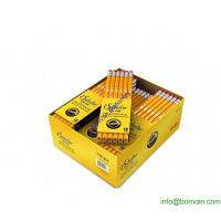 Wholesale store selling dozen pack yellow Hb pencil, bulk sell wooden pencil in display box from china suppliers