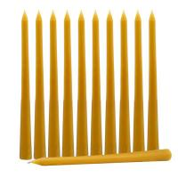 China Wholesale Hand Dipped Beeswax Taper Candles on sale