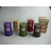 Wholesale glass jar with candle from china suppliers