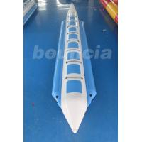 Wholesale 0.9mm PVC Tarpaulin Banana Boat Tubes Water Sports Blue / White from china suppliers
