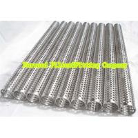 Wholesale Custom Round Perforated Stainless Steel Pipe With Longitudinal Seam , Filter Support from china suppliers