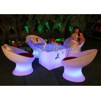 Wholesale Plastic Modern Bar Chairs Coffee Shop Table and Chairs with RGB Light from china suppliers