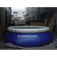 Wholesale Swiming Blue Inflatable Round Pools White Cover Water Proof  Pvc Tarpaulin CE from china suppliers