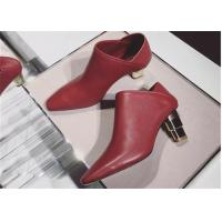 Wholesale Plain Upper Closed Toe Mule Heels Red Heeled Ankle Boots Dual Purpose Shoes from china suppliers