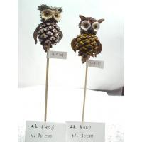 Wholesale Handmade owl,Length:29.5cm,bark and grass easter day's gifts and garden ornament from china suppliers
