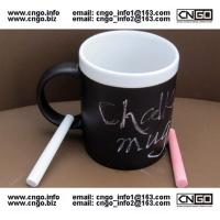 Wholesale Glazed/Porcelain fashion Chalk Mug wholesale11oz Ceramic Chalk Mugs popular chalk mug from china suppliers