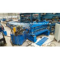 Wholesale Metal Roofing Tile Roll Forming Machine With Adjustable Feeding Table And Precutter from china suppliers