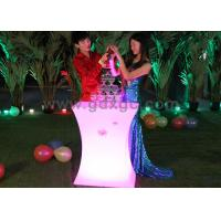 Wholesale Plastic Led Lighting Outdoor Tables With 16 Colors Changing for Coffee Bar from china suppliers