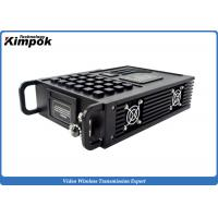 Wholesale Vehicle to Vehicle / Manpack Wireless Video Transmitter 5-10km NLOS Microwave AV Sender 20W from china suppliers