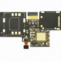 Buy cheap 4-layer Rigid-flex PCB with Black Oil and 18um Copper from wholesalers