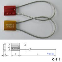 Wholesale Steel Wire Luggage Cable Security Seals , High Security Truck Seals from china suppliers
