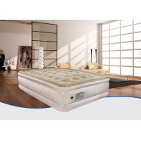 Quality Custom Raised Comfortable Relax Flocked Air Bed , Double Airbed With Built In Pump for sale