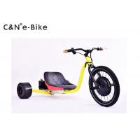 Wholesale 1500w Motor Electric Three Wheel Drift Trike Yellow Color 100mm Front Hub Width from china suppliers